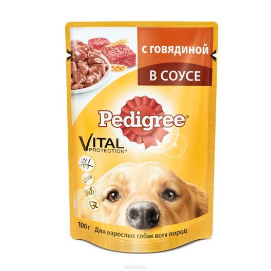 Купить Pedigree говядина в соусе для взрослых собак всех пород