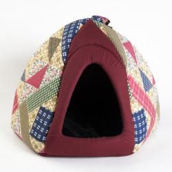 Дом-шатер с меховой вкладкой 50*50*40 см