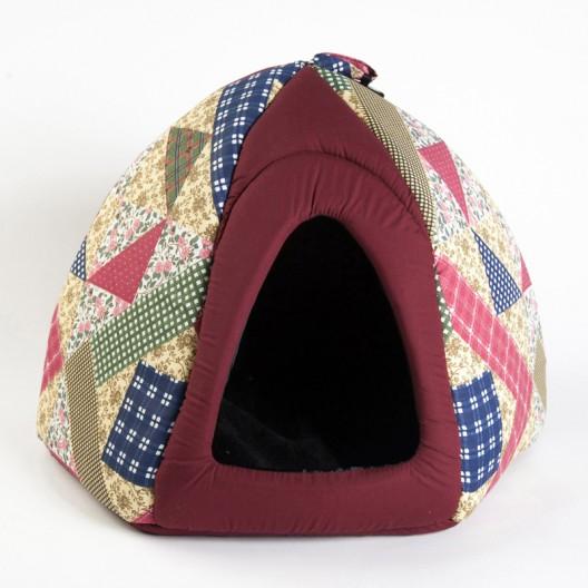 Купить Дом-шатер с меховой вкладкой 50*50*40 см