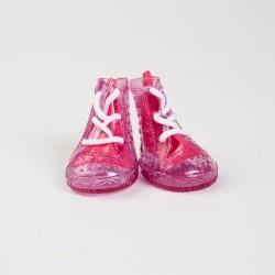 Обувь д/собак резиновые сапожки розовые №4   4 шт.