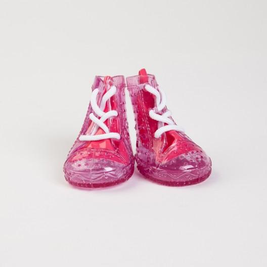 Купить Обувь для собак резиновые сапожки розовые №4   4 шт.
