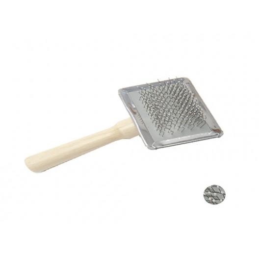 Купить Пуходерка деревянная ручка с шариками М