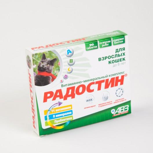 Купить Радостин витаминно-минеральная добавка для кошек до 8 лет