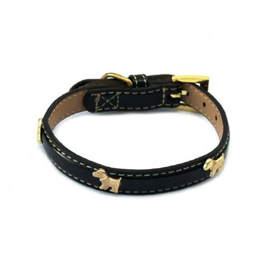 Купить Ошейник Колибри с украшением Собачка 1,5*35 см золото