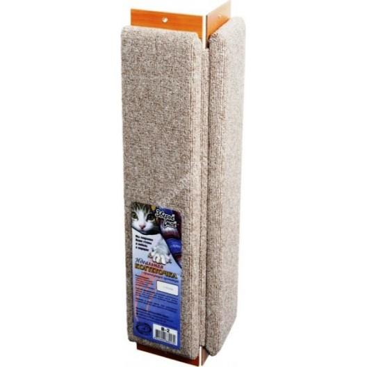 Купить Когтеточка  ковровая с пропиткой угловая 60*14*14 см
