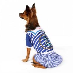 Платье Морячка синее с белым 25 см