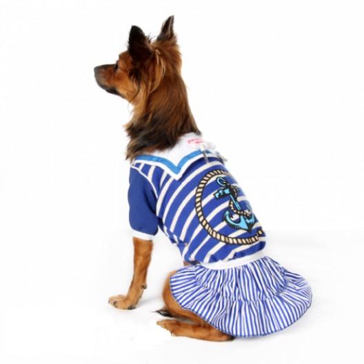 Купить Платье Морячка синее с белым 25 см