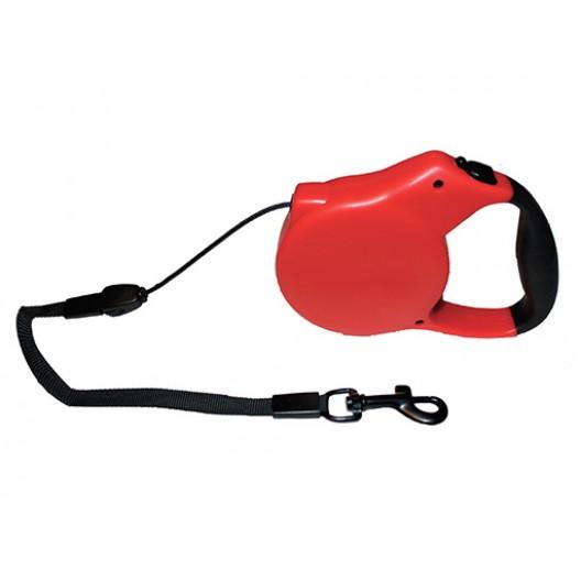 Купить Рулетка-поводок автоматическая Каскад трос 3 м, 12 кг, красная