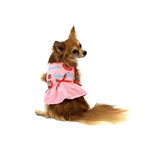 Купить Платье Клубничка розовое 25 см