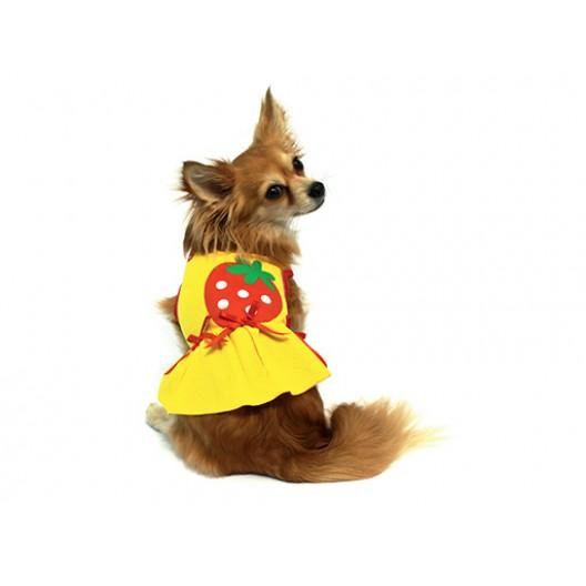 Купить Платье Клубнички желтое 20 см