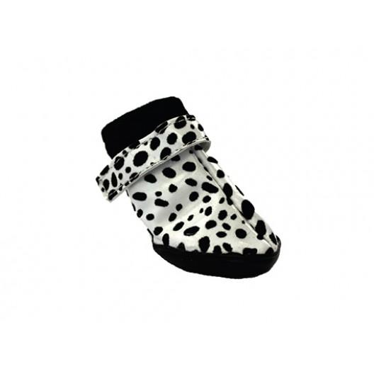 Купить Обувь для собак пятнистые черно-белые №2 (4 шт)