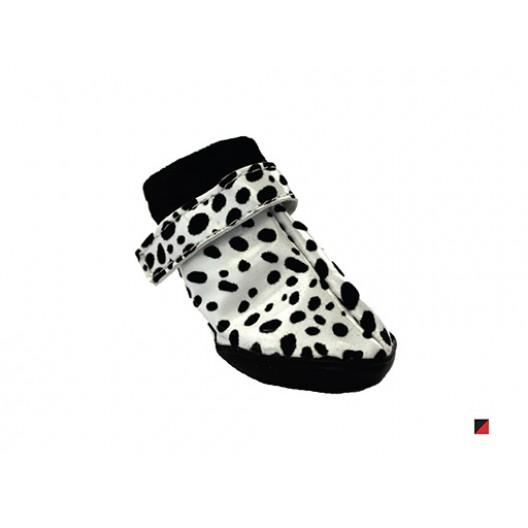 Купить Обувь для собак пятнистые черно-красные №3 (4 шт)