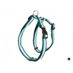 Шлейка нейлон светоотражающая 15 мм*25/40 см синий