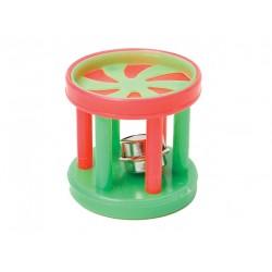 Барабан с колокольчиком пластик 4 см