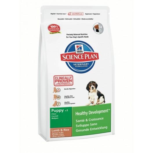 Купить Хиллс сухой для щенят ягненок/рис 1 кг SP Puppy HDev Lamb & Rice