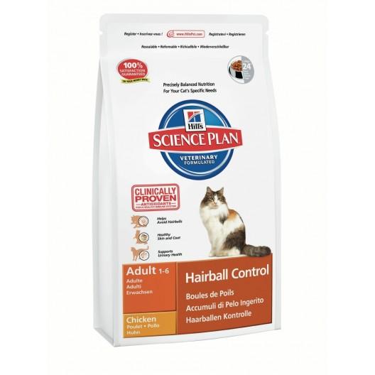 Купить Hills SP Feline Adult Hairball Control Chicken для вывода шерсти из желудка кошек