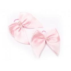 Резинка Бант розовый 4,5*4,5 см (2 шт)