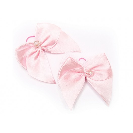 Купить Резинка Бант розовый 4,5*4,5 см (2 шт)