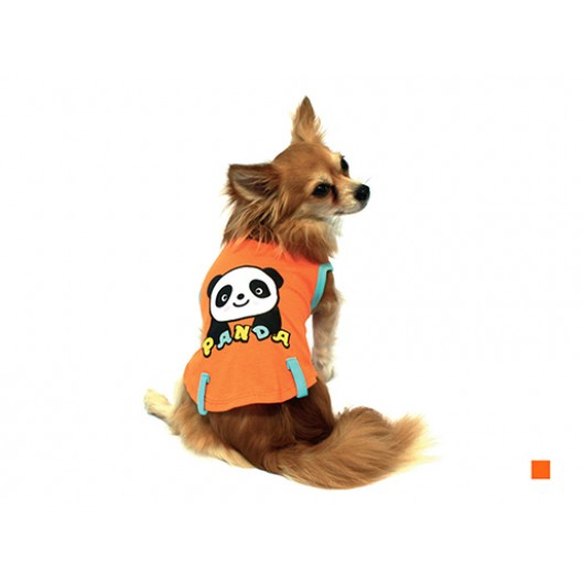 """Купить Майка """"Панда"""" оранжевая 20 см"""
