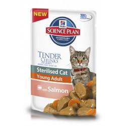 Hills SP Feline SCat YAdult w/Salmon пауч для стерилизованных кошек 6 мес-6 лет 85 гр.
