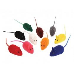 Мышь велюр с пищалкой 6,5 см (3 шт)