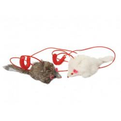 Мышь длинный мех на пружине 9 см