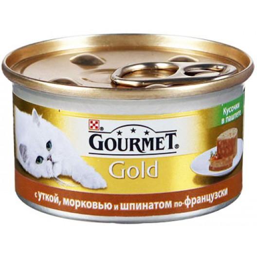 Купить Корм для кош Gourmet с уткой, морковью и шпинатом по-французски