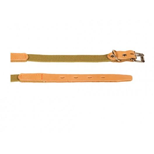 Купить Ошейник брезентовый с кожей 20 мм, 31-39 см