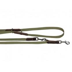 Поводок брезентовый переменной длины комбинированный с кожей 20 мм, длина 1.2 - 2 м