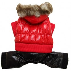 Куртка балонь с капюшоном мех, зима, розовая
