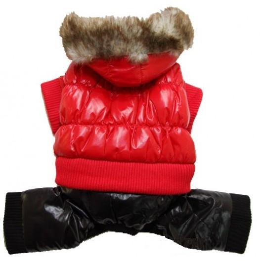 Купить Куртка балонь с капюшоном мех, зима, розовая