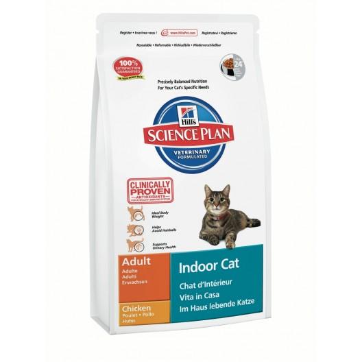 Купить Hills SP Feline Adult Indoor Cat Chicken сухой корм для кошек домашнего содержания