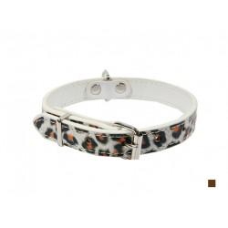 Ошейник Синтетик двойной прошитый Леопард 15 мм*40 см