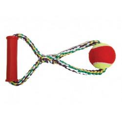 Канат с теннисным мячом с пластиковой ручкой