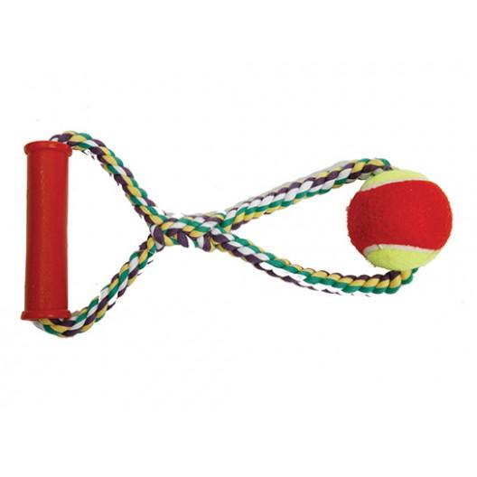 Купить Канат с теннисным мячом с пластиковой ручкой