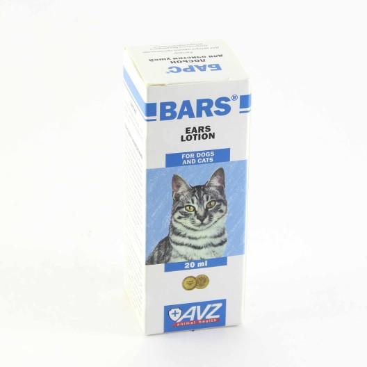 Лосьон для ушей кошек и собак Барс