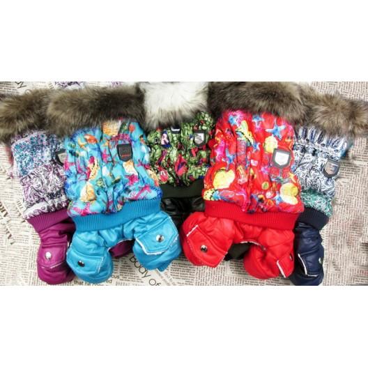 Купить Комбинезон пальто британский стиль зима 30 см ворот мех