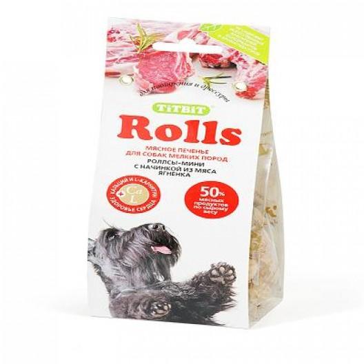 Купить Печенье Rolls  мини с начинкой из мяса ягненка 100 гр. TiTBiT