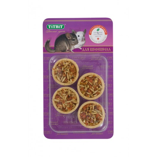 Купить Тарталетки с курагой и фундуком для шиншилл