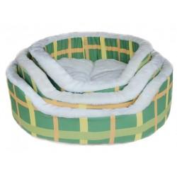 Лежак зеленая клетка №3 55*55*16 см