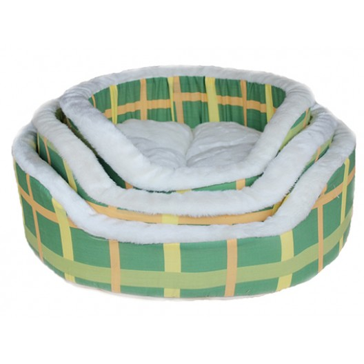 Купить Лежак зеленая клетка №3 55*55*16 см