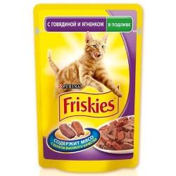 Friskies для кошек в подливе с говядиной и ягненком 100 г.