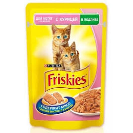 Купить Friskies для котят 1-12 месяцев с ягненком в подливе