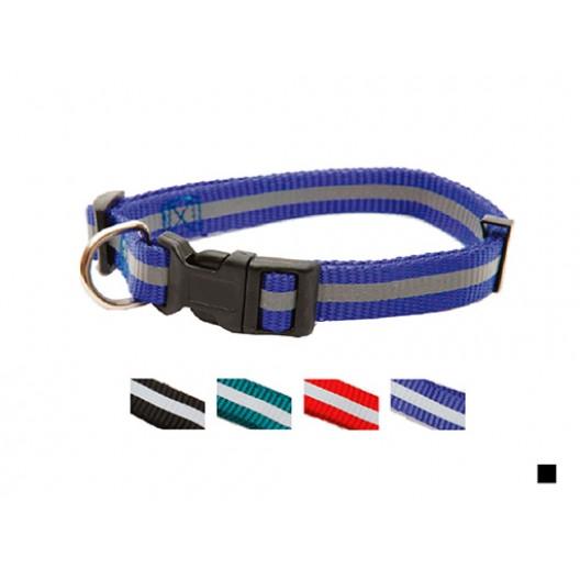 Купить Ошейник нейлон светоотражающий с пряжкой-защелкой 15 мм*33-40 см черный