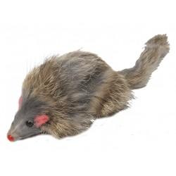 Мышь цветная длинный мех 8 см