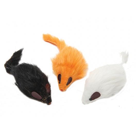 Купить Мышь цветная длинный мех 12,5 см