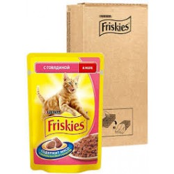Friskies для кошек говядина в желе 100 г.