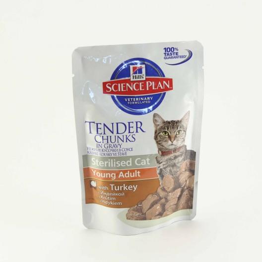 Купить Hills sterilised cat пауч с индейкой