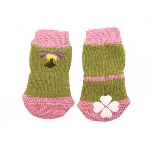 Купить Носки с прорезиненной подошвой XL 4 см*10 см (4 шт)