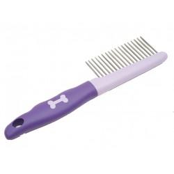 Расческа пластик мягкая ручка крупный зуб блистер